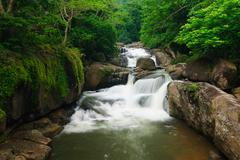 Nangrong Waterfall in Nakhon nayoki, Thailand Stock Photos