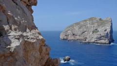 Isola Foradada Capo Caccia Sardinia Italy - 29,97FPS NTSC Stock Footage