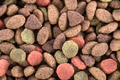Background of cat food granules Stock Photos