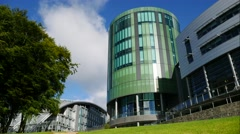 Timlapse of The Robert Gordon University (RGU) in Aberdeen - stock footage