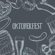 Oktoberfest vector illustration Stock Illustration