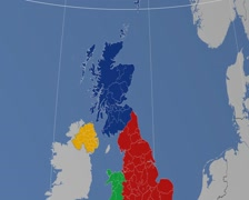 Stock Video Footage of Aberdeen - Scotland (United Kingdom) extruded. Solids
