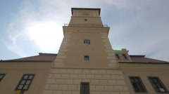 The tower of Old Town Hall, now History Museum, Brasov Stock Footage