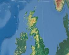 Angus - Scotland (United Kingdom) extruded. Bumps shaded Stock Footage
