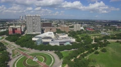Aerial View over Herman Memorial Park and Museum Distrist in Houston Stock Footage