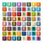 Flat design: cotton swabs Stock Illustration