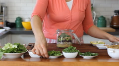 Fresh quinoa salad recipe Stock Footage
