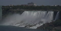 Niagara Falls on the U.S.A side Stock Footage
