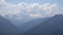 4k Alps clouds panorama timelapse Loser mountain Austria Stock Footage