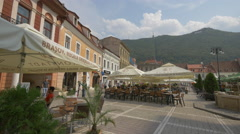 A part of the Council Square and Tampa hill, Brasov Stock Footage