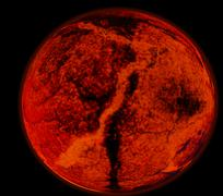 Abstract background of burning planet or sun. Apocalypse. Exploding planet Stock Illustration