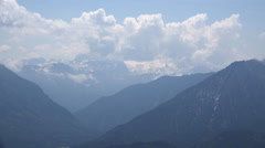 Alps clouds panorama timelapse Loser mountain Austria Stock Footage