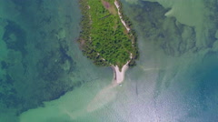 Aerial View, Flying Over Deserted Tropical Island Stock Footage
