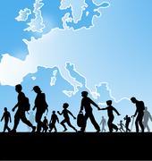 Immigration people Piirros
