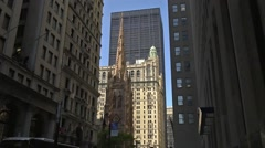 Trinity Church Financial District Stock Footage