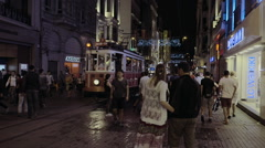 Tourists in Taksim Square - stock footage