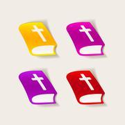 realistic design element: bible - stock illustration