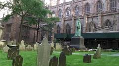 Trinity church graveyard Stock Footage