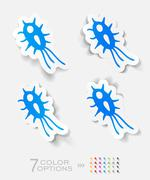 Realistic design element. microbe Stock Illustration