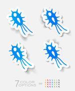 realistic design element. microbe - stock illustration