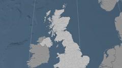 East Dunbartonshire - Scotland (United Kingdom) extruded. Set Stock Footage