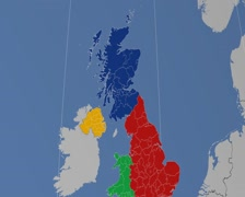 East Dunbartonshire - Scotland (United Kingdom) extruded. Solids Stock Footage