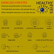 Healthy eyes. Infographics. - stock illustration