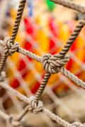 Close-up shot of playground revealing some interesting details. - stock photo