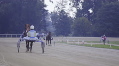 Warming for harness racing 4K Stock Footage