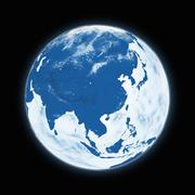 Southeast Asia on planet Earth Stock Illustration
