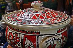 Romanian traditional ceramics 1 Stock Photos