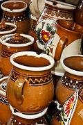 Romanian traditional ceramics 7 - stock photo