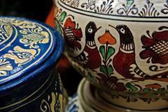 Romanian traditional ceramics 6 - stock photo