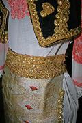 Old traditional Romanian folk costume 2 - stock photo
