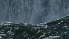 The majestic Niagara Falls on the Ontario border to New York Stock Footage