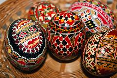 Painted Easter eggs 4 Stock Photos