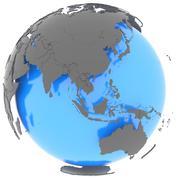 Stock Illustration of Eastern Hemisphere on the planet