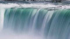 Long exposure shot of Niagara Falls Stock Footage