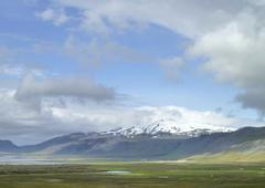mountain scenery in Iceland - stock photo