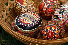 Painted Easter eggs 2 - stock photo