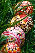 Painted Easter eggs 19 Stock Photos