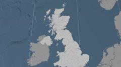 East Renfrewshire - Scotland (United Kingdom) extruded. Set Stock Footage