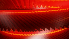 Red rotating gears Stock Footage