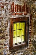 Dracula's Castle. Window Stock Photos