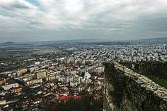 Deva. Aerial view of the city.1 - stock photo
