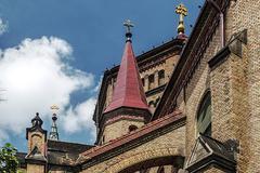 Catholic Cathedral. Detail - stock photo