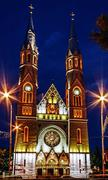Churches night 7 - stock photo