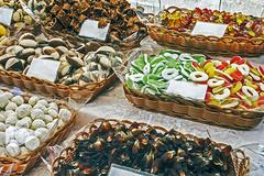Sweets on sale - stock photo