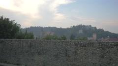 View of Brasov from Tiberiu Brediceanu alley, Brasov Stock Footage