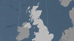 Falkirk - Scotland (United Kingdom) extruded. Set Stock Footage
